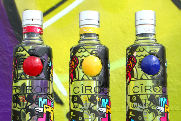 CIROC Vodka customised bottles Mister Phil Illustration Brighton